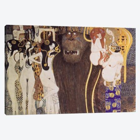 Die feindlichen Gewalten (The Hostile Forces) Canvas Print #14009} by Gustav Klimt Canvas Art Print