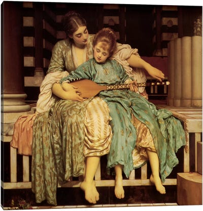 The Music Lesson by Frederick Leighton Canvas Artwork