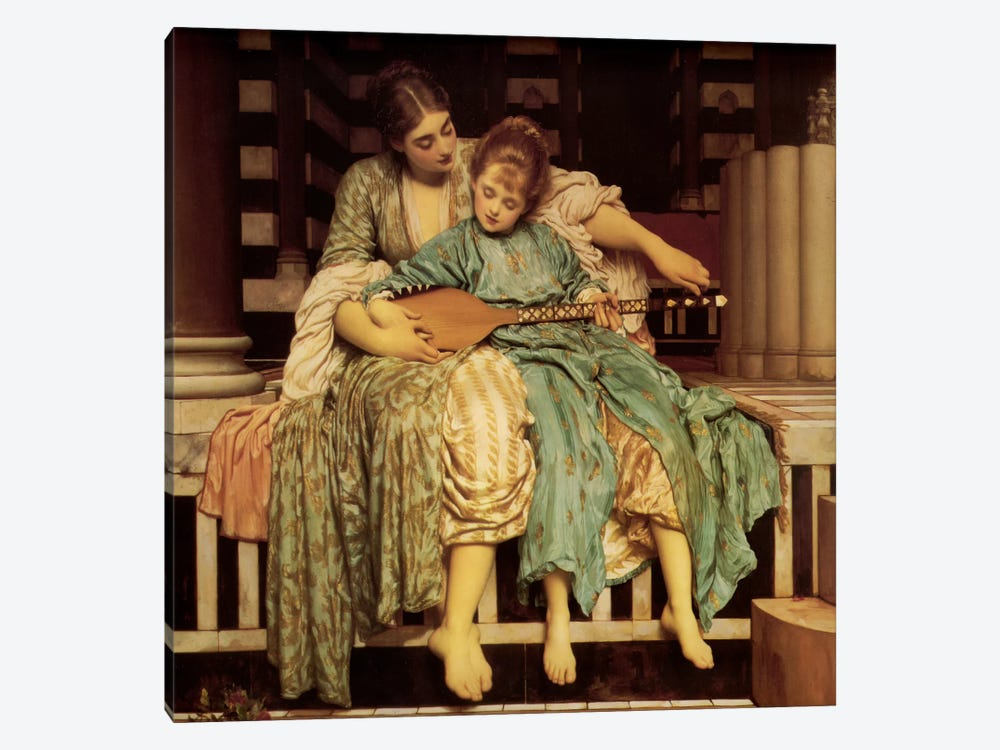 The Music Lesson by Frederic Leighton 1-piece Canvas Art Print
