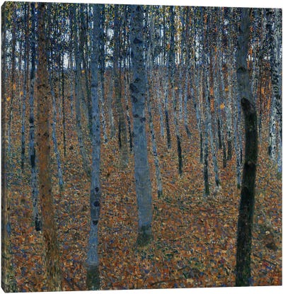 Buchenwald 1 (Beech Grove 1) by Gustav Klimt Canvas Art Print
