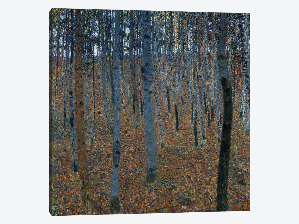 Buchenwald 1 (Beech Grove 1) by Gustav Klimt 1-piece Canvas Art Print