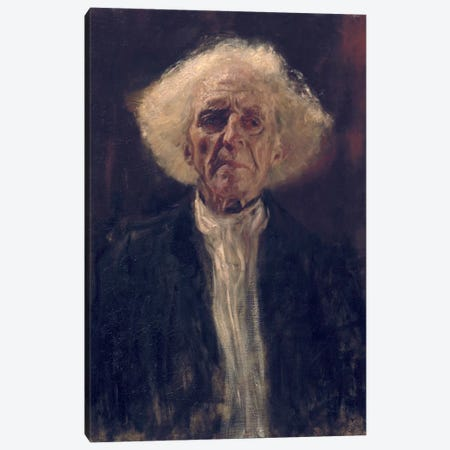 Study of the Head of a Blind Man Canvas Print #14019} by Gustav Klimt Canvas Artwork