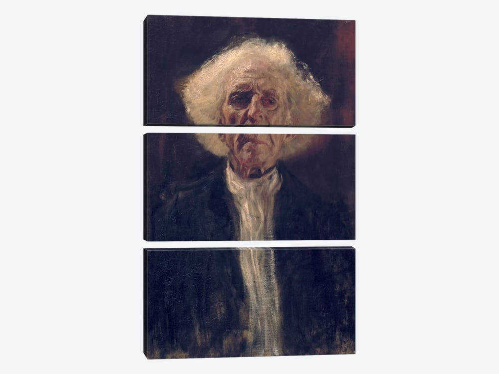 Study of the Head of a Blind Man by Gustav Klimt 3-piece Canvas Art