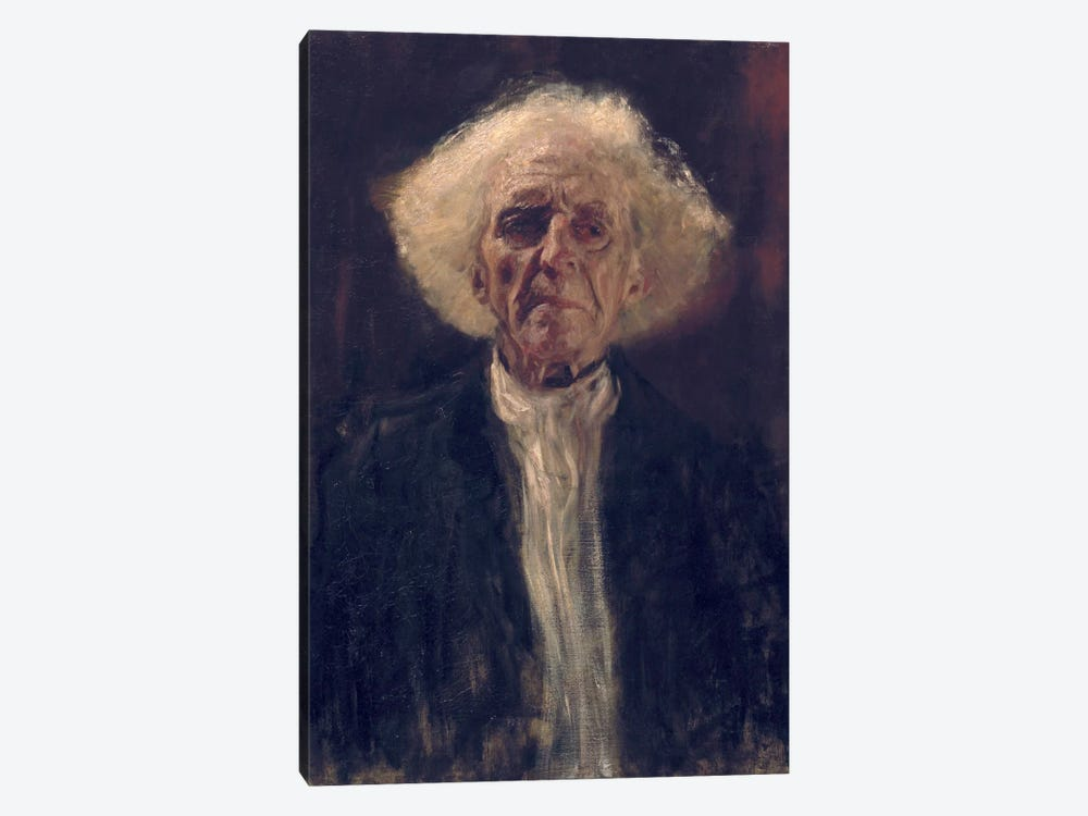 Study of the Head of a Blind Man by Gustav Klimt 1-piece Canvas Art