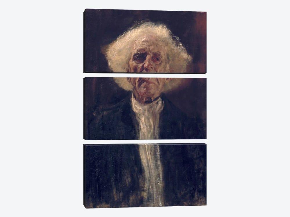 Study of the Head of a Blind Man by Gustav Klimt 3-piece Canvas Art