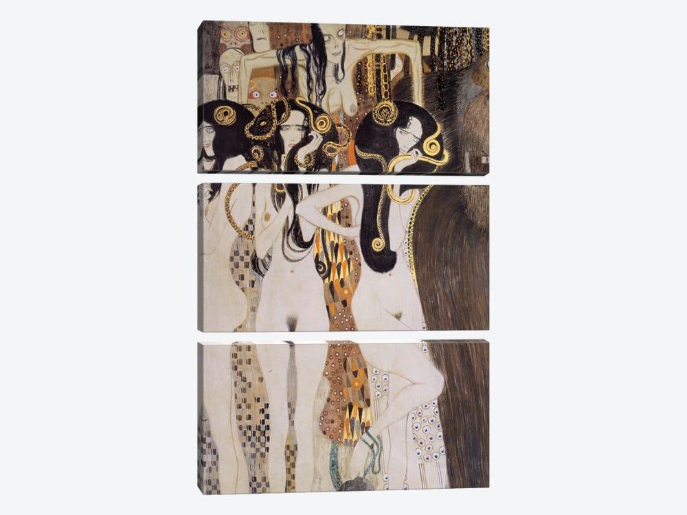 Die Gorgonen und Typhoeus by Gustav Klimt 3-piece Canvas Art
