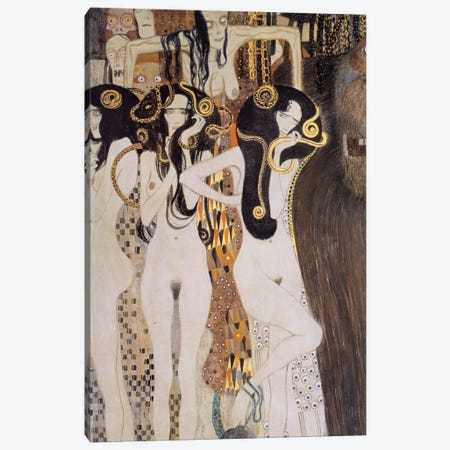 Die Gorgonen und Typhoeus Canvas Print #14022} by Gustav Klimt Canvas Print