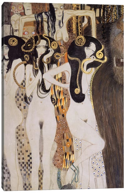 Die Gorgonen und Typhoeus Canvas Art Print