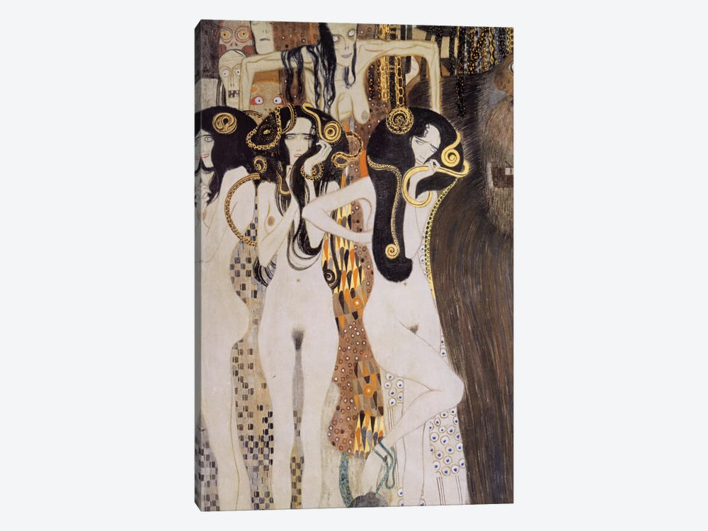 Die Gorgonen und Typhoeus by Gustav Klimt 1-piece Canvas Artwork