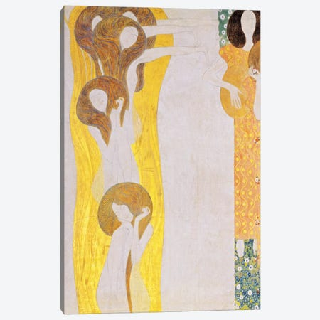 Die Künste Canvas Print #14023} by Gustav Klimt Canvas Print