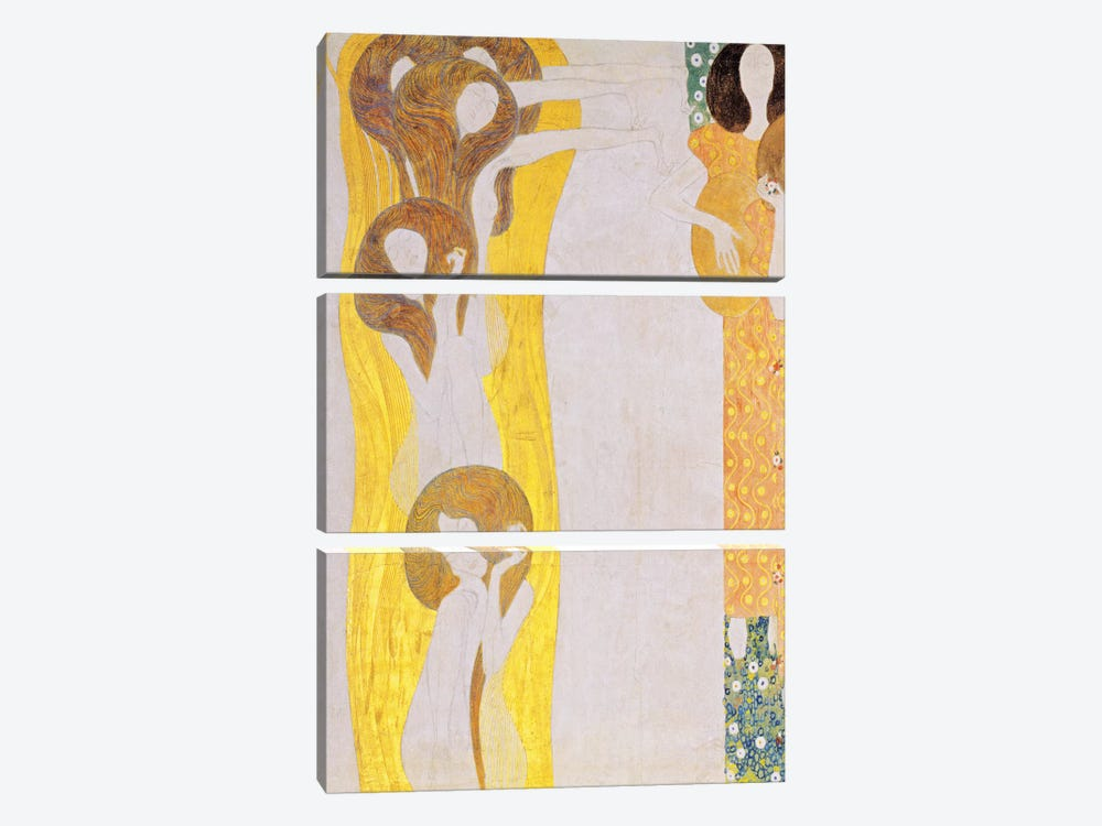 Die Künste by Gustav Klimt 3-piece Canvas Art Print