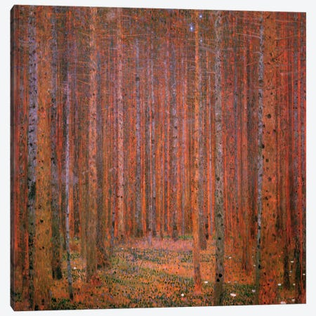 Fir Forest I Canvas Print #14025} by Gustav Klimt Canvas Wall Art