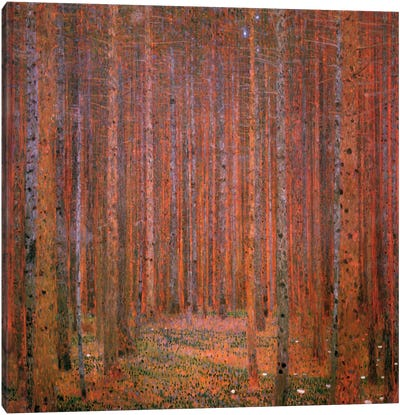 Fir Forest I by Gustav Klimt Canvas Art Print