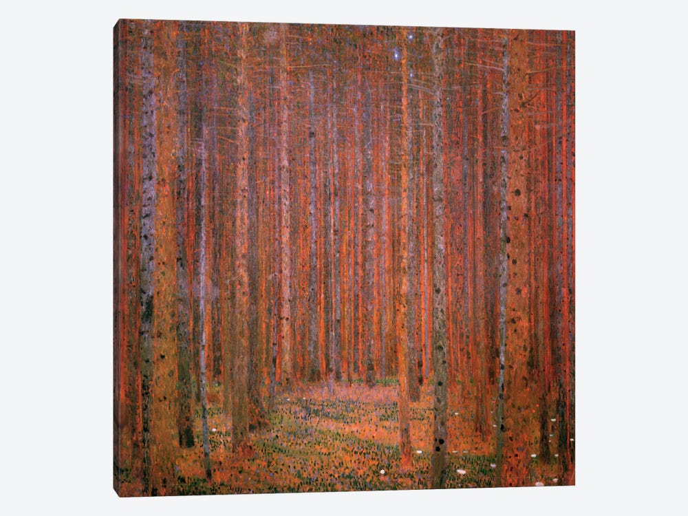 Fir Forest I by Gustav Klimt 1-piece Canvas Print