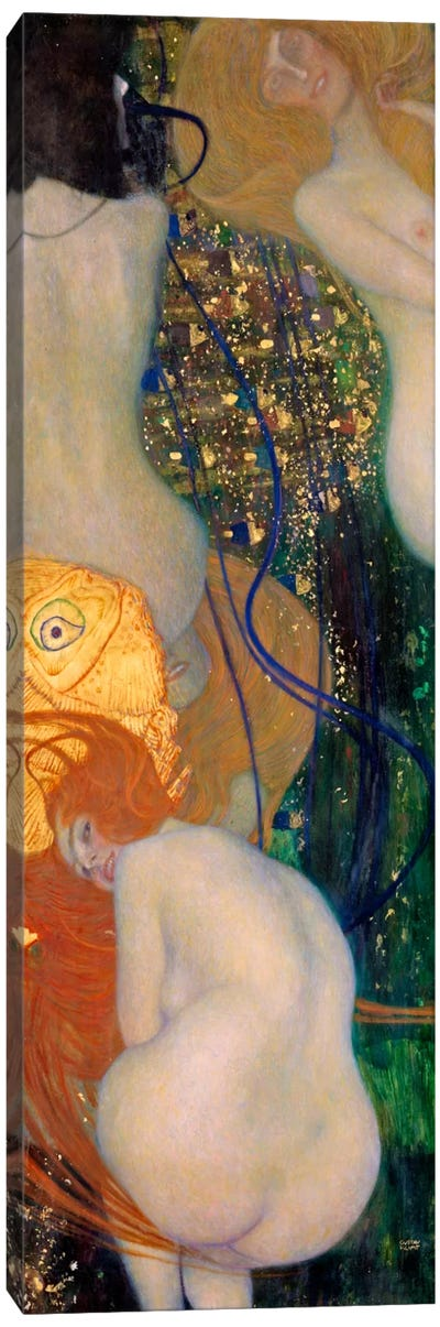 Goldfish by Gustav Klimt Canvas Art Print