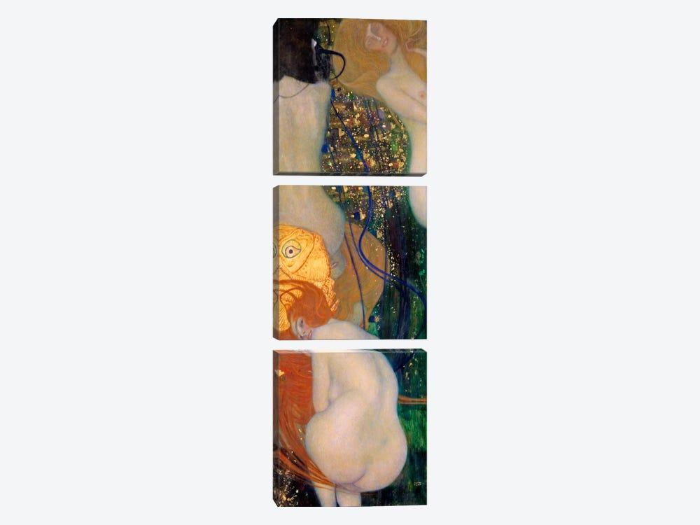 Goldfish by Gustav Klimt 3-piece Canvas Art Print