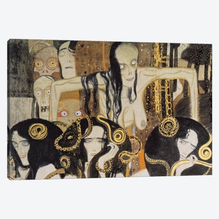 Gorgonen 3 (The Three Gorgones: Sickness, Madness, Death) Canvas Print #14028} by Gustav Klimt Art Print