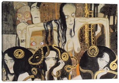 Gorgonen 3 (The Three Gorgones: Sickness, Madness, Death) Canvas Art Print