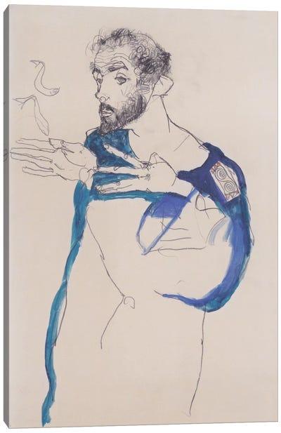 Gustav Klimt Im Blauen Malerkittel Canvas Print #14029