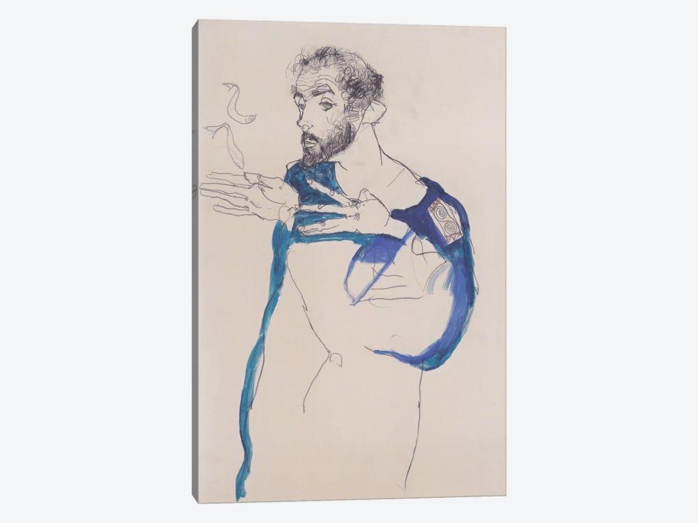 Gustav Klimt Im Blauen Malerkittel by Egon Schiele 1-piece Art Print