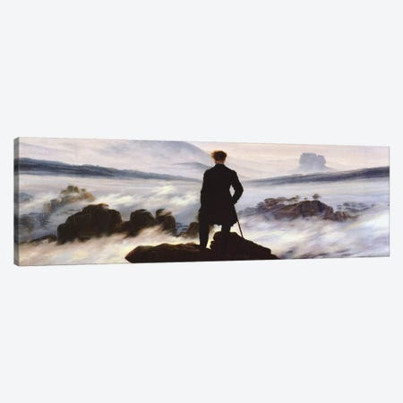 The Wanderer Above The Sea of Fog Canvas Print #1402PAN} by Caspar David Friedrich Canvas Print