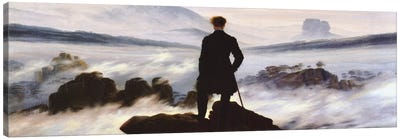The Wanderer Above The Sea of Fog Canvas Art Print