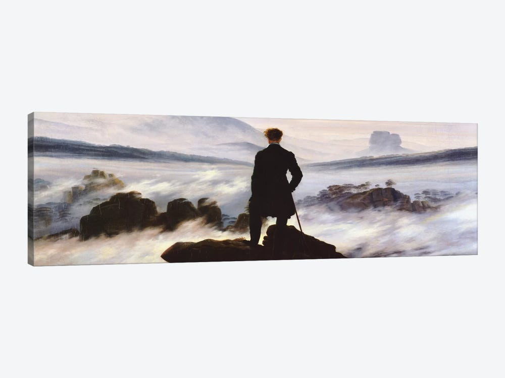 The Wanderer Above The Sea of Fog by Caspar David Friedrich 1-piece Canvas Art Print