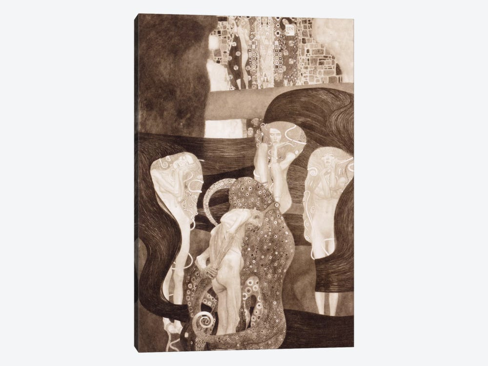 Jurisprudenz by Gustav Klimt 1-piece Canvas Wall Art