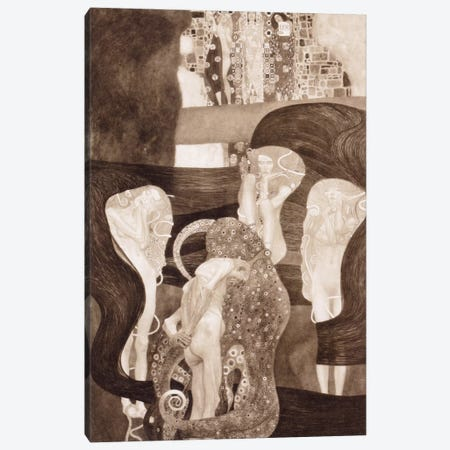 Jurisprudenz Canvas Print #14033} by Gustav Klimt Canvas Wall Art