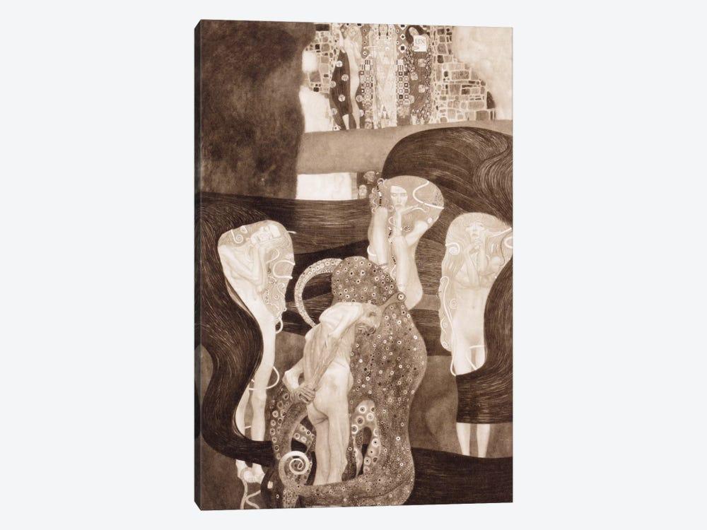 Jurisprudenz by Gustav Klimt 1-piece Canvas Wall Art