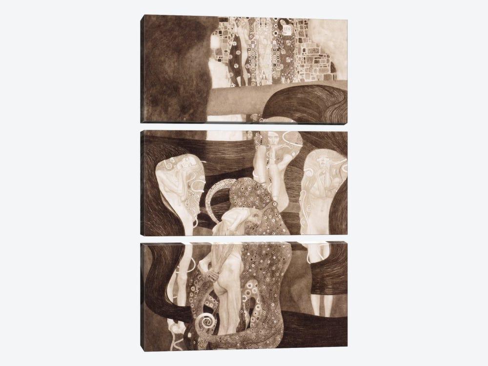 Jurisprudenz by Gustav Klimt 3-piece Canvas Wall Art