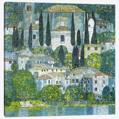 Kirche in Cassone (Church in Cassone) Canvas Print #14034} by Gustav Klimt Canvas Art Print