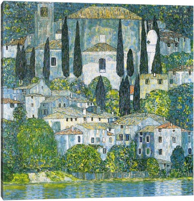 Kirche in Cassone (Church in Cassone) by Gustav Klimt Canvas Art Print