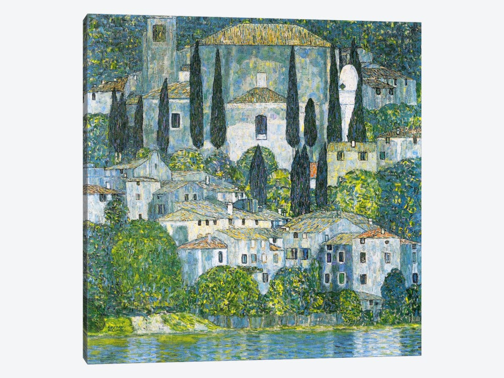 Kirche in Cassone (Church in Cassone) by Gustav Klimt 1-piece Canvas Print