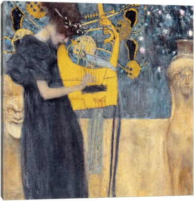 Musik 1895 by Gustav Klimt Canvas Art Print