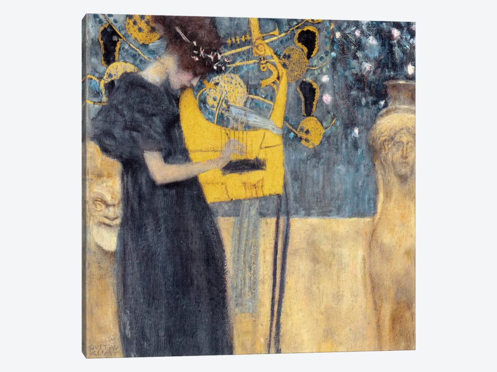 Musik 1895 by Gustav Klimt 1-piece Canvas Art