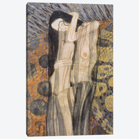 Nagender Kummer ll (Gnawing Grief) Canvas Print #14038} by Gustav Klimt Canvas Wall Art