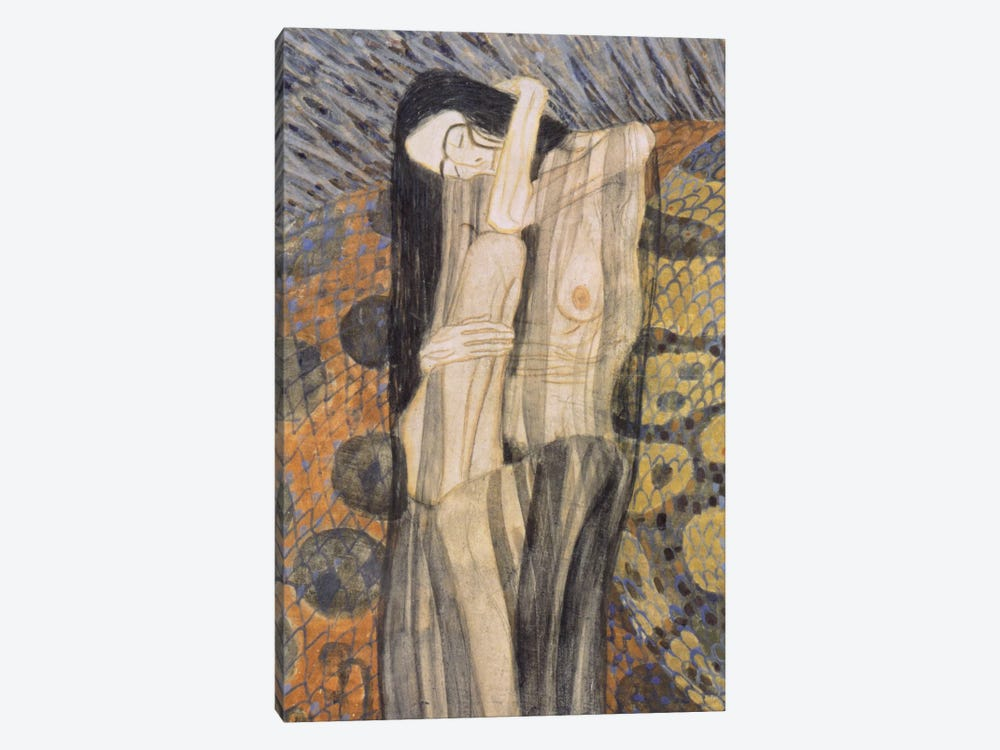 Nagender Kummer ll (Gnawing Grief) by Gustav Klimt 1-piece Canvas Print