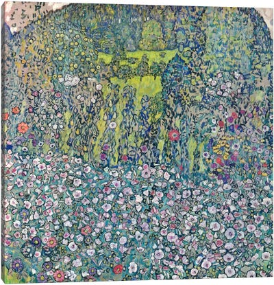 Gustav Klimt Garden Landscape on the Hill Canvas Print #14043