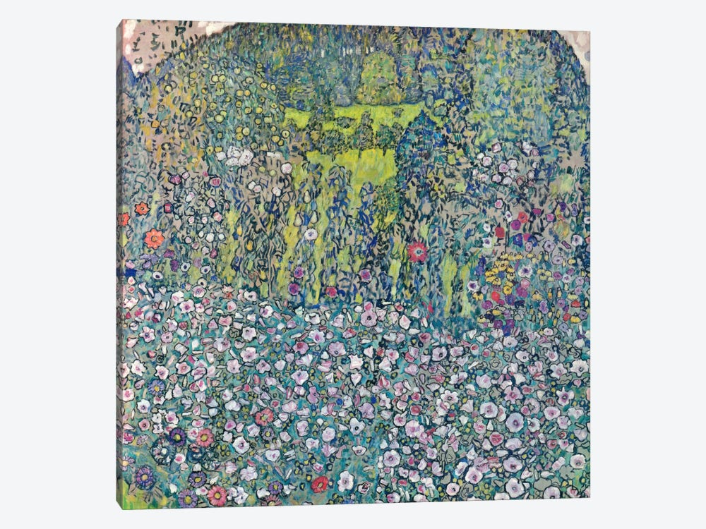 Gustav Klimt Garden Landscape on the Hill by Gustav Klimt 1-piece Canvas Print