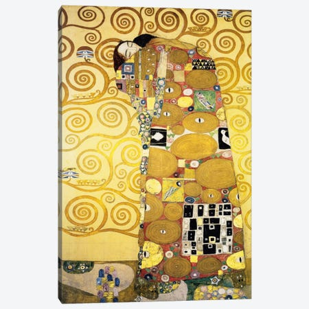 The Embrace, Stoclet Frieze Panel, 1905-11 Canvas Print #14048} by Gustav Klimt Art Print