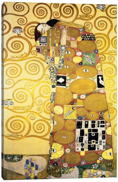 The Embrace, Stoclet Frieze Panel, 1905-11 by Gustav Klimt Canvas Art Print
