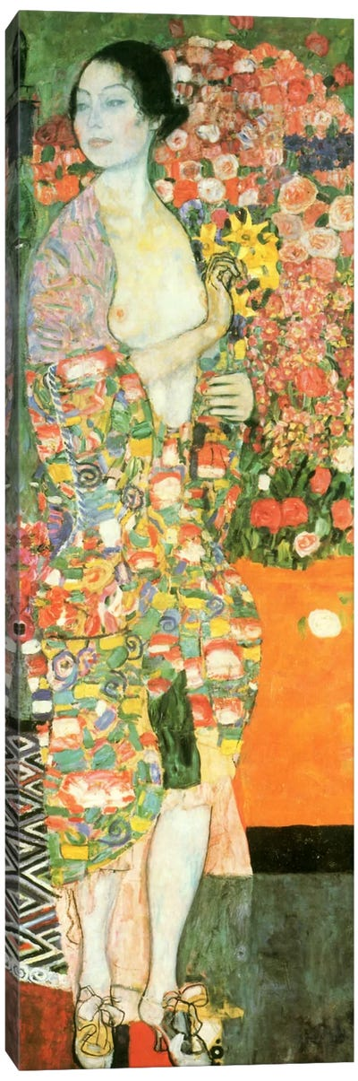 The Dancer by Gustav Klimt Canvas Art Print