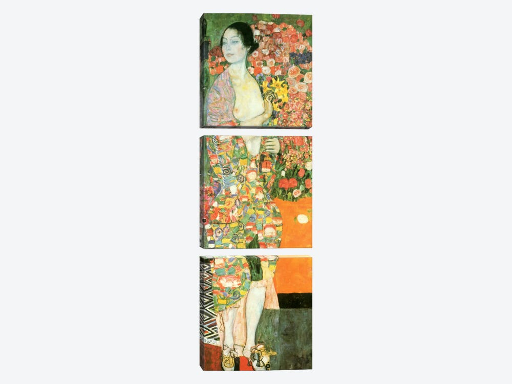 The Dancer by Gustav Klimt 3-piece Canvas Art Print