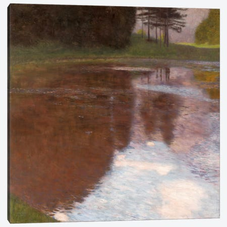 Tranquil Pond Egelsee near GollingSalzburg 3-Piece Canvas #14052} by Gustav Klimt Canvas Art