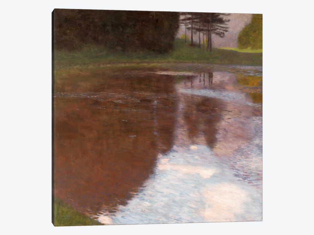 Tranquil Pond Egelsee near GollingSalzburg by Gustav Klimt 1-piece Canvas Art Print