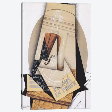 Komposition mit Violine Canvas Print #14064} by Juan Gris Canvas Art