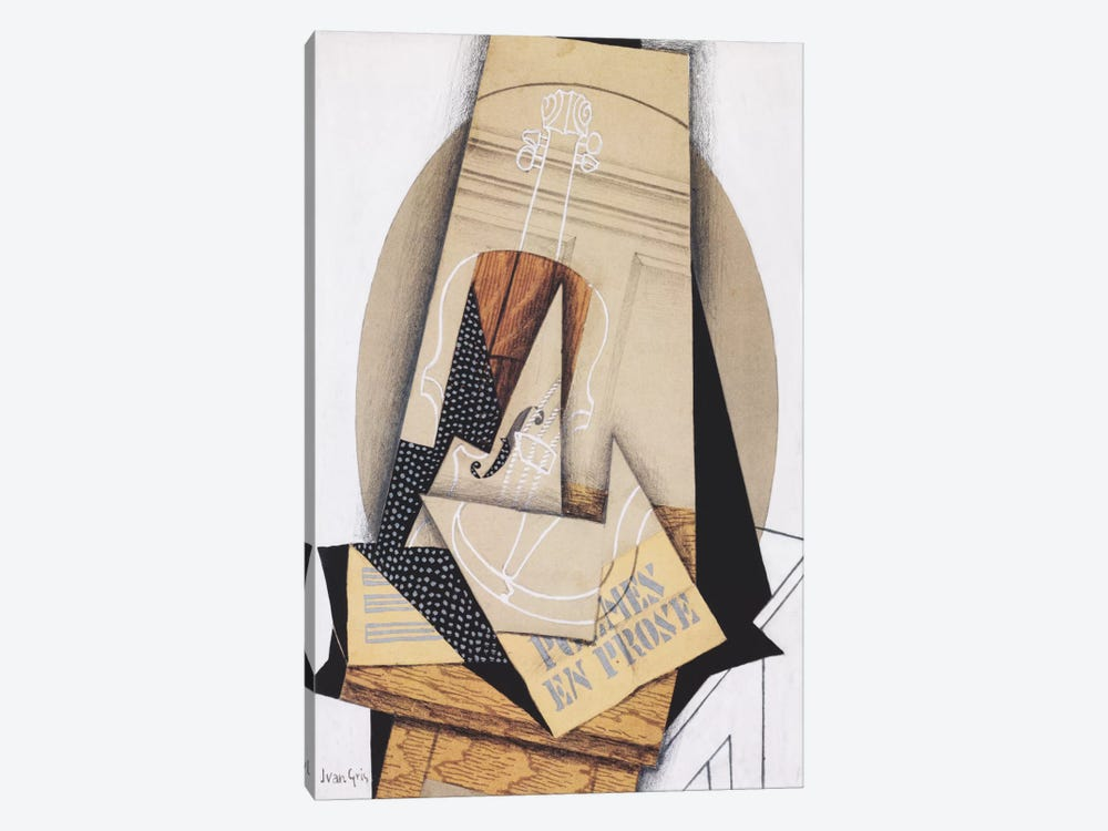 Komposition mit Violine by Juan Gris 1-piece Canvas Wall Art