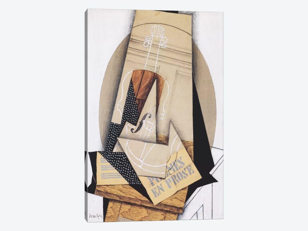 Komposition mit Violine by Juan Gris 1-piece Canvas Wall Art