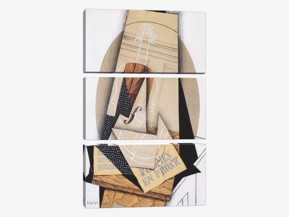 Komposition mit Violine by Juan Gris 3-piece Canvas Wall Art